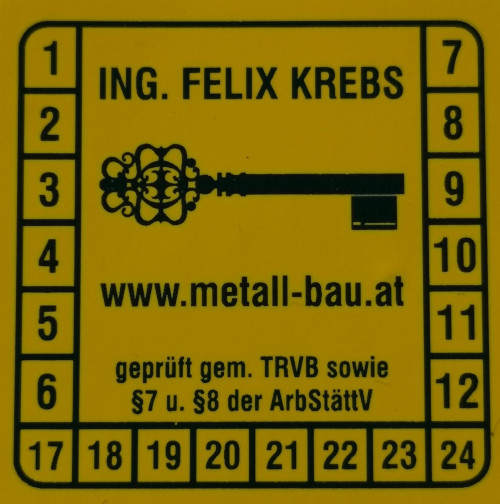 Plakette Brandschutz Sicherheitsschlosser.at